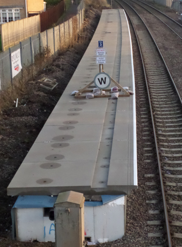 new platform being constructed