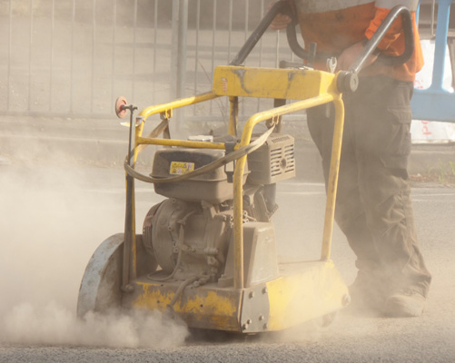 Cutting tarmac