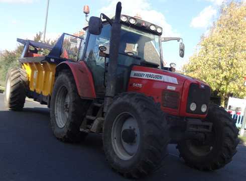 modern tractor